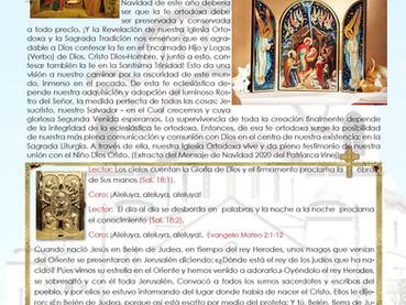 Boletín, Natividad de Ntro Sr y Salvador Jesús Cristo