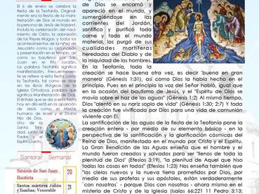 Boletín, Domingo de Teofanía