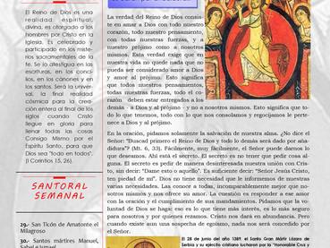 Boletín, 3er Domingo después de Pentecostés