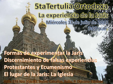En la Parroquia de la Santísima Trinidad en Medellín, Colombia, se llevan a cabo Tertulias Ortodoxas