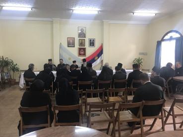 Reunión del Clero con el Metropolita Amfilohije y el Obispo Kirilo
