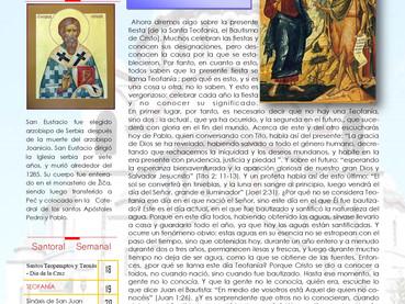 Boletín Domingo anterior a Teofanía