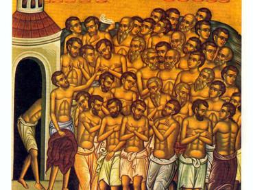 Los 40 Mártires de Sebastia y los 42 Mártires de Momisici