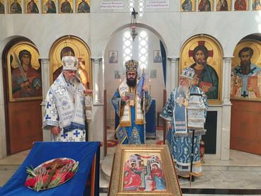 En la fiesta de la Anunciación de la Virgen, concelebraron los Obispos Santiago, Juan y Kirilo