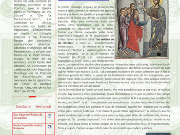 Boletín, Domingo de Tomás