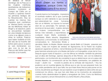 Boletín, Domingo de las Miróforas