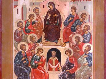 Mañana celebramos PENTECOSTÉS - EL DESCENSO DEL ESPÍRITU SANTO SOBRE LOS APÓSTOLES