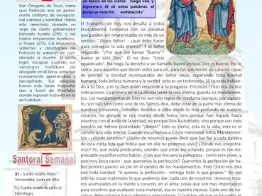 Boletín, 12 Domingo después de Pentecostés