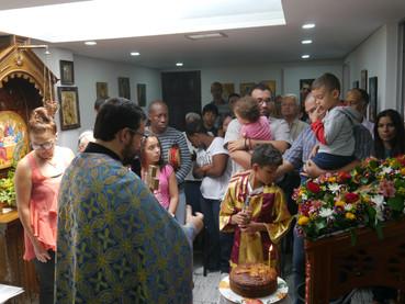 Celebración de la Dormición de la Virgen en Medellín, Colombia