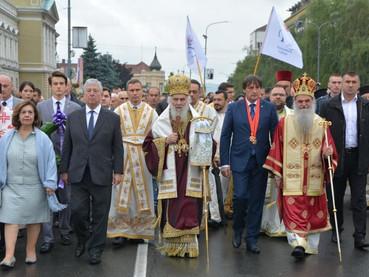 El Patriarca Irinej celebró la Divina Liturgia en Vidovdan en Krusevac