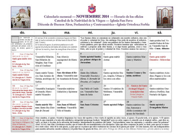 Horario de los santos oficios para NOCHEBUENA, NAVIDAD Y RESTO DE ENERO 2020