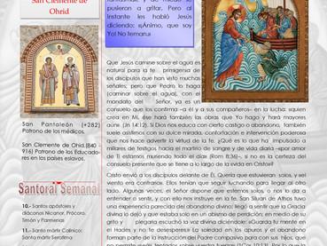 Boletín, 9no Domingo después de Pentecostés