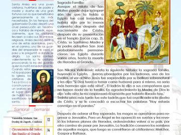 Boletín, Domingo posterior a Natividad