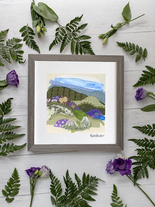 Moorland Mounted Print
