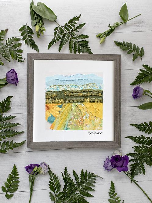 Sunflower Meadow Mounted Print