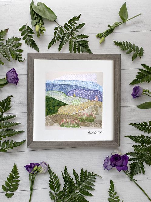 Wheatfields Mounted Print