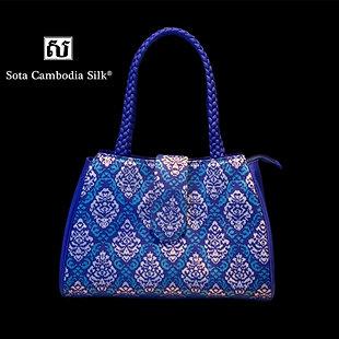 新作 DIAMOND BAG カンボジアシルク シルク バッグ