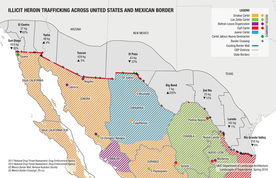 Trafficking Between the U.S. and Mexico