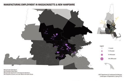 Manufacturing Employment in Massachusetts and New Hampshire