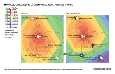 Emergency Care Accessibility on a Typical Weekend