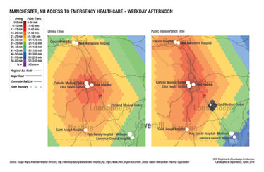 Emergency Care Accessibility on a Typical Weekday