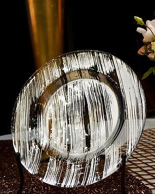 Silver Foil Charger _#wedding #chargerpl