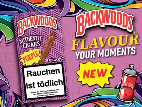 NEU: Backwoods Purple mit Honig- und Beerenaromen. 5 Purple im Freshpack 3,90 €.