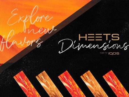 Wieder erhältlich: HEETS Dimensions Apricity und Noor 6,20 €/Päckchen