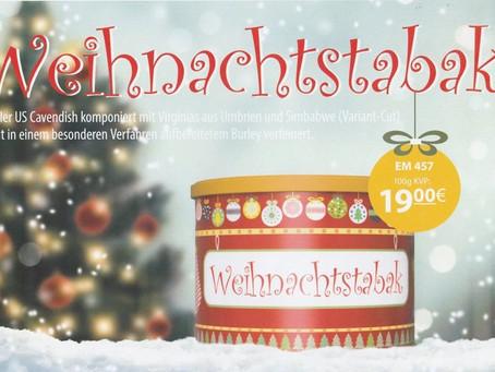 Weihnachtstabak mit Aromen von irischem Sahnelikör, Karamel, Ingwer, Gewürznelke, Zimt  100g 19.-€