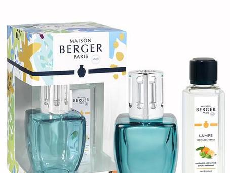 Lampe Berger June Revelry Blau und 250 ml Duft Spritzige Mandarine  38.- €