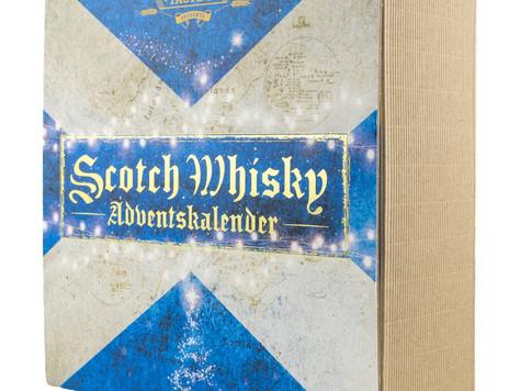 Geschenkidee: Adventskalender mit 24 Fläschchen Whisky oder Rum und einem Nosing-Glas.
