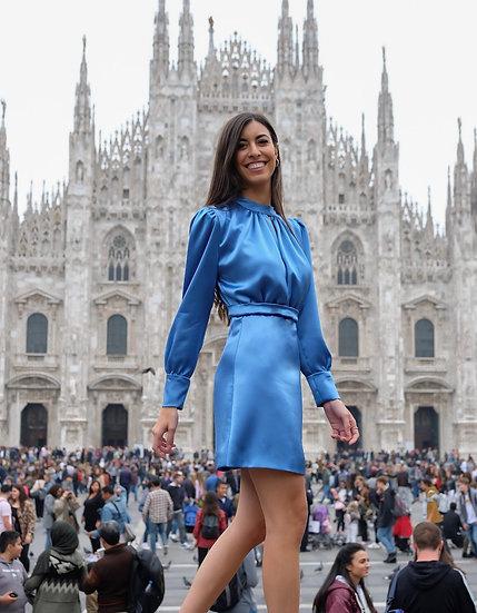 Vestido ORQUÍDEA Azul