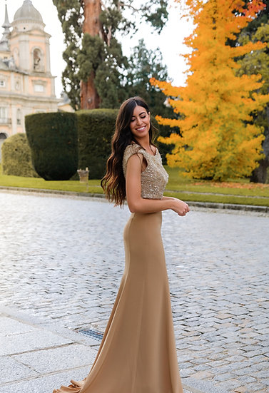 Falda mostaza