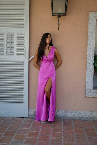 Vestido DALIA Rosado satén