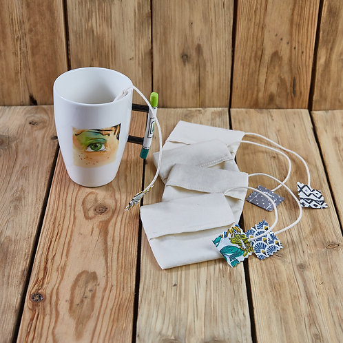 Sachets de thé x 4 en coton bio