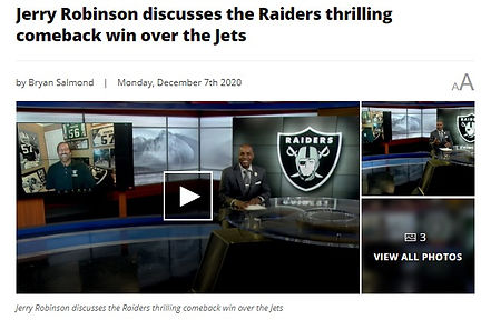 Jerry Robinson talks Raiders comeback on Silver & Black Extra