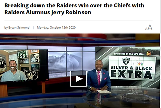 Jerry Robinson on LV Radiers vs KC Chiefs