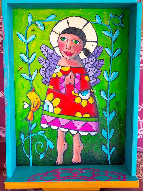 Pocket Shrine - Mary, mary bringer of light