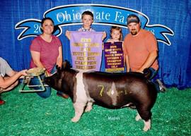Carson Daulton, Reserve Champion Crossbred Breeding Gilt, Ohio State Fair