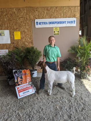 Aden Kuhn, Reserve Champion, Attica, OH.