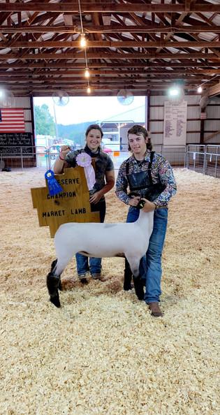 Branden Parsons, Reserve Champion Lamb,