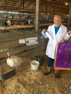 Katelyn Meeks, Grand Champion, Preble County Fair, OH