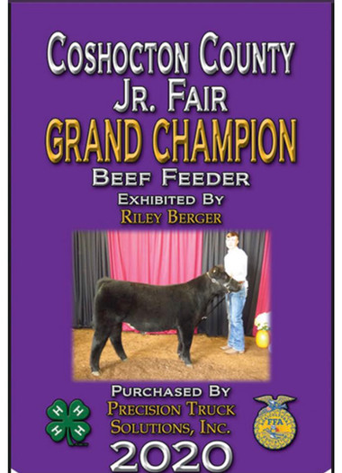 Riley Berger, Grand Champion, Coshocton
