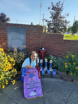Alyssa Evans, Reserve Champion Fryer & B
