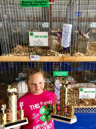 Olivia Gast, Grand Champion, Erie County Fair Rabbit Show, OH