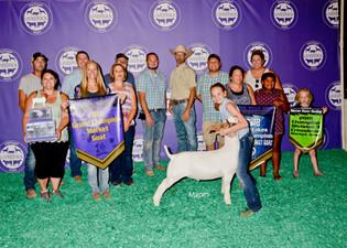 Emma Darrow, Grand Champion, Michigan Livestock Expo