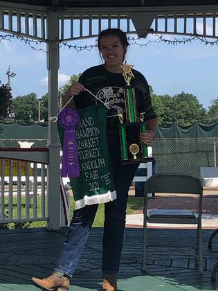 Brianna Parker, Grand Champion Turkey, Portage County Fair, OH.jpg