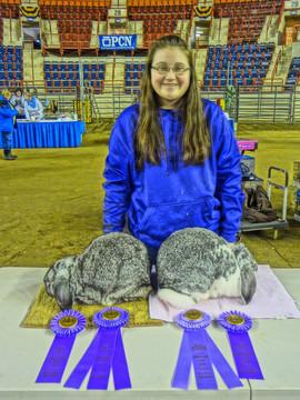 Emily Kuhn, Breed Champion, PA State Farm Show