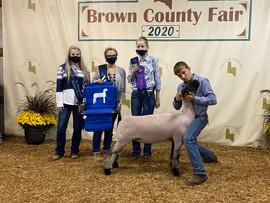 Cory Miller, Grand Champion Ewe, Brown C