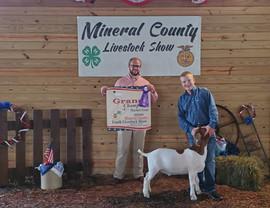 Adam Jones, Grand Champion Goat, Mineral